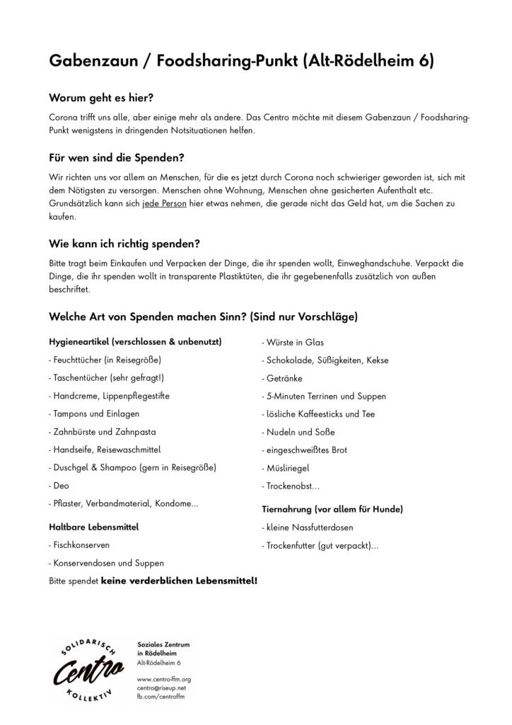 Infos über den Gabenzaun (Bild der PDF-Datei)