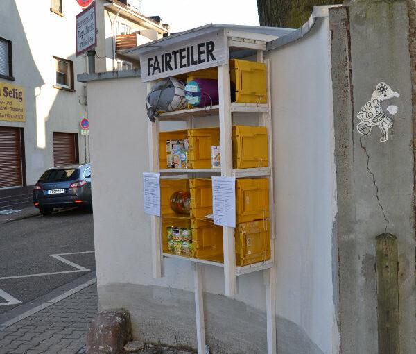 Centro installiert einen neuen Fairteiler / Foodsharing – Punkt in der Assenheimerstraße 15!